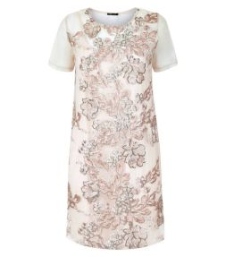 shell-pink-sequin-embroidered-mesh-tunic-dress